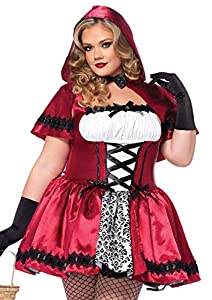 Leg Avenue- Caperucita roja Mujer, Color Rojo, Blanco, Talla Plus 3X/4X (EUR 52-56) (85230X09096)