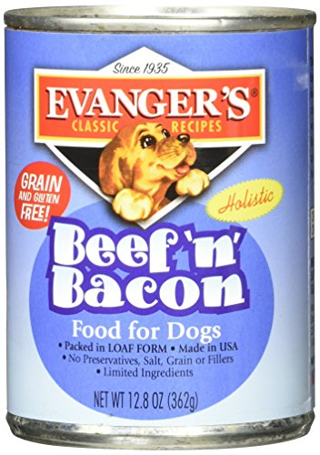 Evangers Classic All Natural Beef and Bacon Food Dinner Meal for Pet Dogs 13z