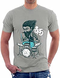 The Souled Store Desi Punk Desi Printed GREY Cotton T-shirt for Men Women and Girls