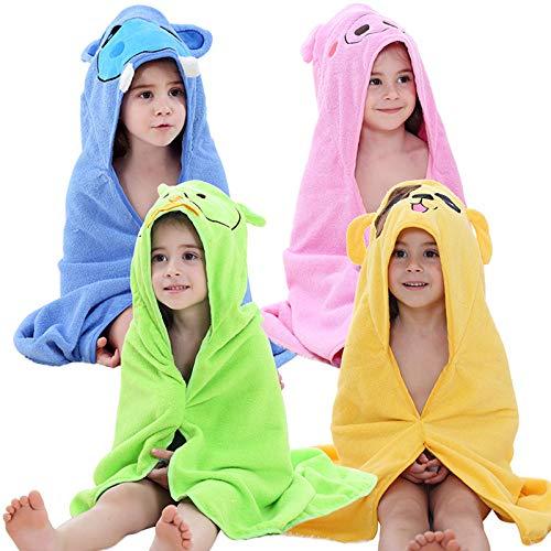 FHKL Mit Kapuze Baby Handtuch Bambus Niedlichen Tier Bad Decke Handtuch Dusche Geschenk Für Neugeborene Kleinkind Große Größe 90 X 90 cm,Green