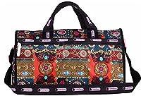 Wewod Women's Gym Bag Waterproof nylon Sports Bag Colorful Yoga Luggage Travel Bag (Colour-D)