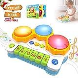 ACTRINIC Baby Spielzeug Schlagzeug Klavier spielt Tastatur Kleinkind Musikinstrument,Lernen und Entwicklung 6 bis 18 Monate Spielzeug mit Licht / Musik-Set für Mädchen und Jungen Früherziehung