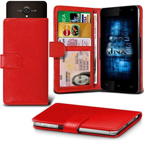 (Red) Allview X2 Soul Pro Hülle Abdeckung Cover Case schutzhülle Tasche Verstellbarer Feder Mappe Identifikation-Kartenhalter-Kasten-Abdeckung ONX3