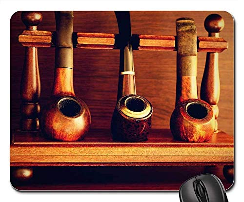 Mouse Pads - Pipes Tobacco Old Man Rare White Smoke Background
