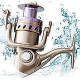 Chunse Spinnende Angelrolle, Bevor Entladekraft-Spinnrad, 5 + 1BB mit Geschwindigkeits-Verhältnis 5.14: 1/5.17: 1, Salzwasser-Spinnrolle mit Korrosionsbeständigem,5000