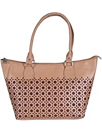 Krivi Brown Color Faux Leather Hand Bag For Women / Ladies / Girl
