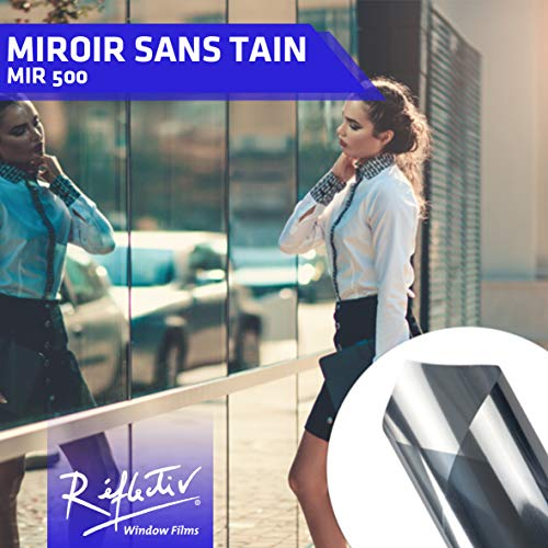 Réflectiv MIR500MINI Film adhésif miroir sans tain, Argent, 0,75 x 2