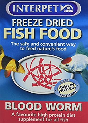 Interpet Freeze Dried Fish Food – Blood Worm 4g