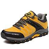 DFMAI Zapatillas de Senderismo Hombre Big Size Leather Lace-Ups Trail Camping Sneaker Para O...