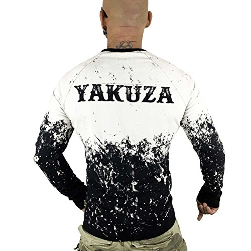 Yakuza Original Herren Splatter Longsleeve T-Shirt Schwarz