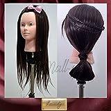 Pedgeo (TM) New 61cm 50% capelli umani formazione testa parrucchiere trucco pratica manichino C20