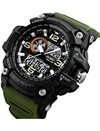 Skmei Analogue-Digital Black Dial Men's & Boy's Watch(Skm-1283-Green)