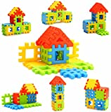 Adichai Kids Non Toxic Material Happy Home House Building Block Toys (Multicolour)