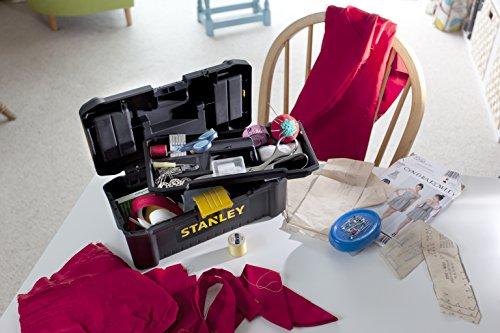 Stanley Kunststoff-Werkzeugbox/kasten, 12,5″, mit Kunststoffschliessen und Organizern, entnehmbare Trage, STST1-75514 - 3