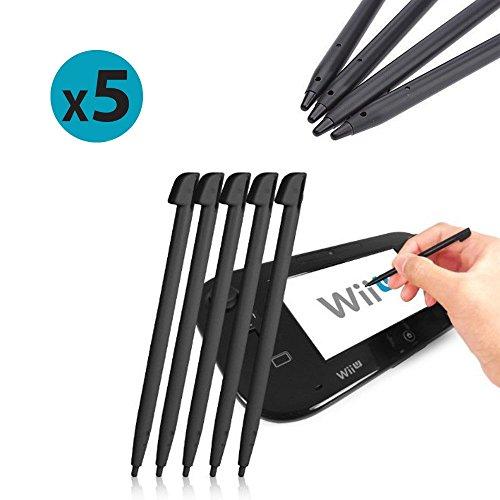 FoneM8® - Set de stylets 5 Pack Of Noir Stylets pour Nintendo Wii U