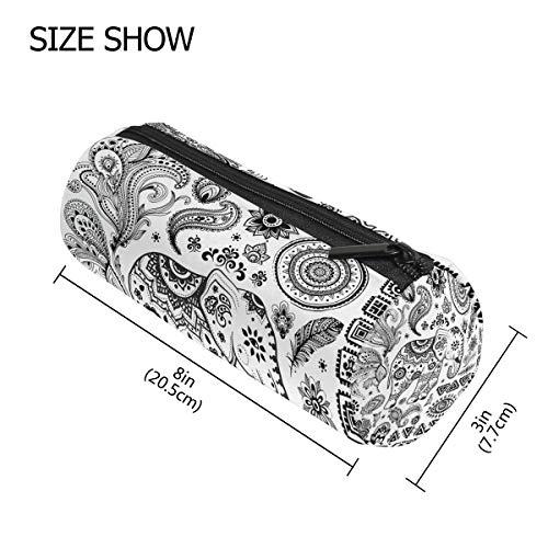 TIZORAX - Estuche para lápices con diseño de flores indias y elefantes,...