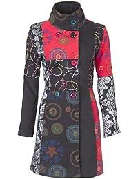 08360480a0a7 Sambosa 25 Designs-Sehr schöner Damen Luxus Winter Mantel Patchwork  Trenchcoat 34 36 38 40