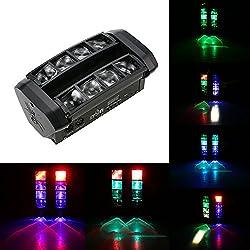 Tomshine DMX512 40W Luz de Escenario Mejorar, 11CH Canales Cabeza Móvil LED Rotativa RGBW LED Mini Araña Etapa Viga Luz Cabezas Discoteca para Bar Disco DJ Club