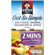 Quaker Avena Así Fruta simple Gachas 10 x 38,5 g