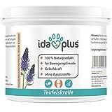 Ida Plus - Teufelskralle (Fein vermahlen) Ohne Zusatzstoffe - 250 g Pulver - 100% Naturprodukt für Aktive Gelenke Bei Pferd, Hund und Katze