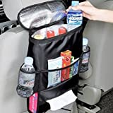 Rückenlehnenschutz(2 Stück),Auto Rücksitz Organizer für Kinder mit extra großen leicht zugänglichen Taschen autositz schutz 2 Stück(schwarz)