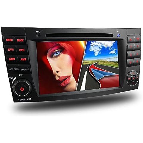 MERCEDES MB-02EU W211 W219 radio de coche / Moniceiver reproductor multimedia / naviceiver con GPS + NAVIGATION software incluye mapas de Europa + Bluetooth manos libres + 7