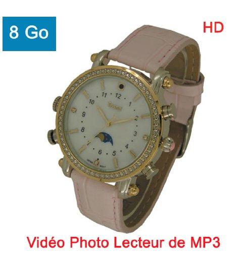 Orologio mini telecamera nascosta spia lettore mp38gb videocamera fotocamera dittafono donna mp3rosa