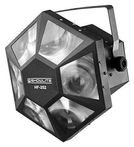 Showlite HF-252 LED Hexa Flower Effekt RGB (252-Hochleistungs-LEDs mit satten Farben, DMX steuerbar mit 6 Kanälen, Automatikprogramme und Musiksteuerung, Master-Slave-Betrieb möglich) schwarz (Flower-effekt)