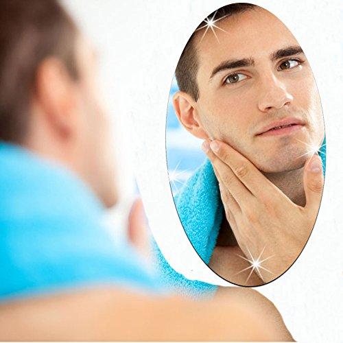 Tutoy 27X42cm Badezimmer Selbstklebend Abnehmbarer Ovaler Spiegel Wandaufkleber Home Decor Ovaler Holz-spiegel