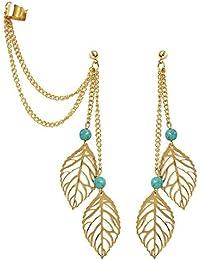 Leaf It To Chance Mismatch Ear Cuff Earrings Set By Via Mazzini