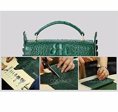 lpkone-Nouveau motif crocodile sac à main épaule bandoulière sac sac pour femme Purple-red