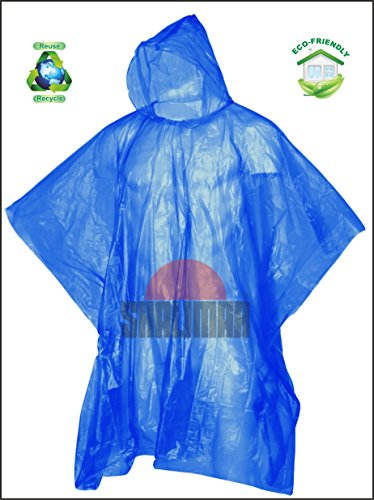 Shalimar Reusable Rain Poncho, Free Size, Pack of 6