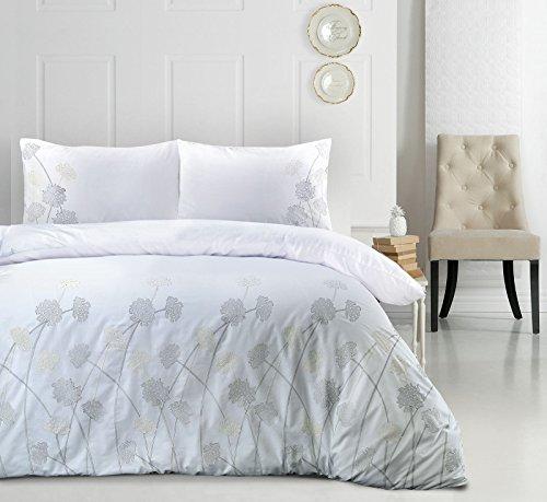 Janet blanco lujo floral bordado 180 hilos percale