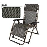 Deckchairs Feifei Oversize XL Padded Schwerelosigkeit Lounge Chair Breiten Armlehne Verstellbare Liege Unterstützung 300 lbs Zusammenklappbar (Farbe : B)