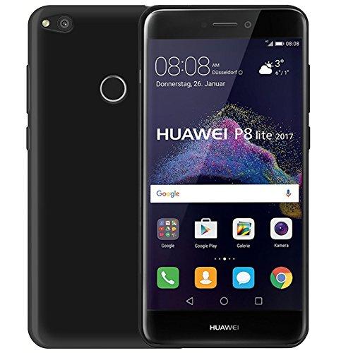 Nera Custodia TPU per Huawei P8 LITE 2017 4G/LTE smartphone - Funda Protective Cover protettiva Huawei P8 Lite 2017 versione (Black) - XEPTIO accessori