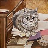 Le secrétaire, Portrait de chat par Anne Zamo...
