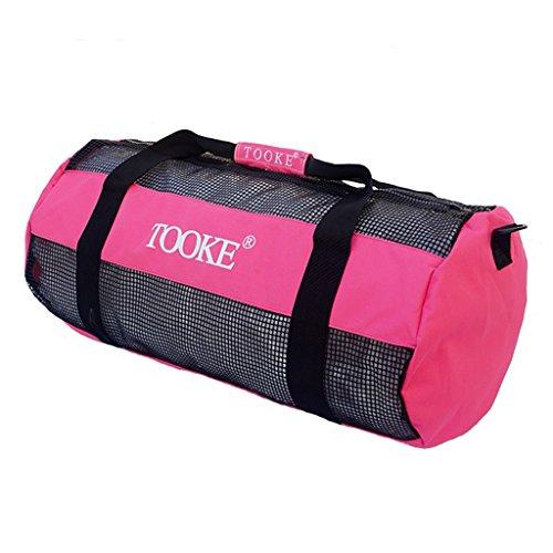 Sharplace Netztasche - Mesh Duffel Bag, groß für Wassersport Tauchen Schnorcheln Schwimmen Ausrüstung Tragetasche Tauchtasche Schnorcheltasche - Rosa