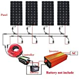 ECO-WORTHY 600W, 12V/24V Off Gird modulo solare Kit: 4Pezzi 12V 150W...