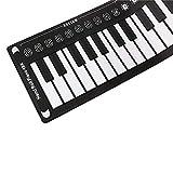 Tragbare 49 Tasten Professionelles Smart Folding Piano Handrolled Black