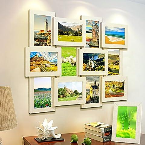 MVPOWER Bilderrahmen Collage für 12 Fotos 10x15 cm + 1x Einzelfotorahmen 13x18 cm, 13er Frame Set für Hausdeko (13er Set