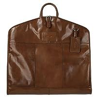 Ashwood Harper Leather Suit Carrier Chestnut