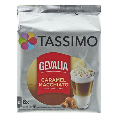 Tassimo Gevalia Caramel Macchiato, Kaffee, Gemahlener Röstkaffee, Kaffeekapsel, 16 T-Discs / 8 Portionen (Kaffee T-discs Gevalia)