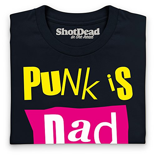 Punk Is Dad T-Shirt, Herren Schwarz