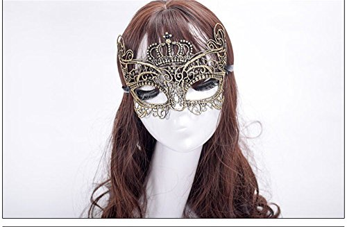 Face mask shield veil guard screen domino false front Makeup dance mask lace mask nightclub mask openwork fun sexy party goggles female golden