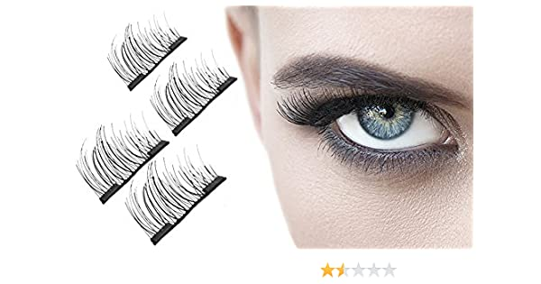 415bfa21bc5 Aquarius Professional 3D Double Magnetic lightweight and reusable Eyelashes  with Irritation free design Made From High Quality Imported Fiber:  Amazon.co.uk: ...