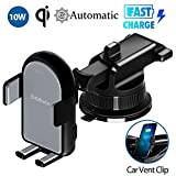 Caricatore Wireless Auto Caricabatterie Ricarica Rapida 10W Adatto Supporto per Samsung Galaxy 10/9 Note8, iPhone XS Max/XR/8 plus, LG V30/G6 Plus e Tutti i Dispositivi Dotati di Ricarica Wireless