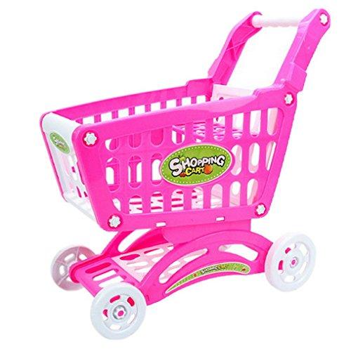 YiyiLai Kaufläden Zubehör Kinderspielzeug Einkaufswagen Zum Geburtstag,Geburtstags-Geschenk L Pink # B