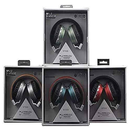 MNBEEJHVHDJ Headset Bluetooth-Headset, Musik-Stereoanlage, Faltbare Karte, Mobiltelefon, grün