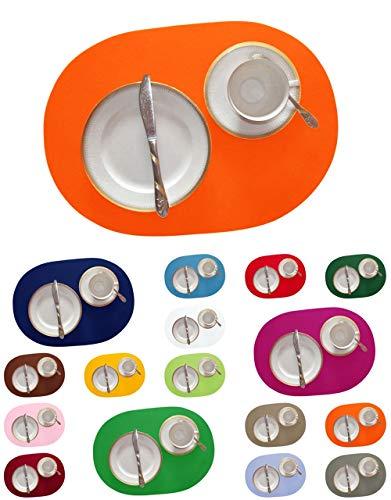 Bordeaux-kaffee-tisch-set (DIE NÄHZWERGE Filz-Tischset Klassik - ca. 45x30cm, in 17 Farben, als Einzelstück und im Set | 3mm Polyester-Textilfilz, waschbar. Handarbeit. (orange, 2))