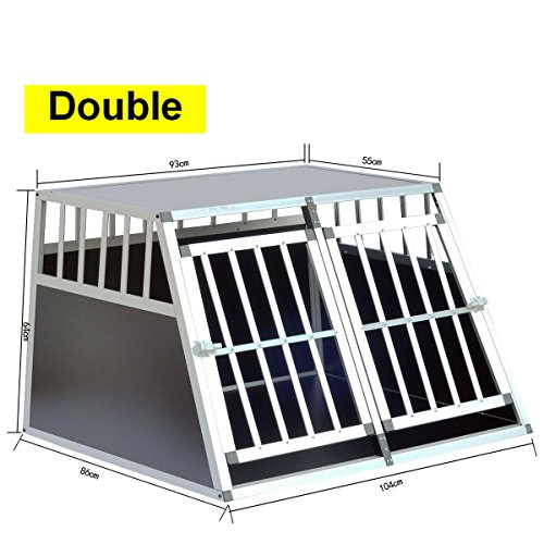Delman Alu Hundetransportbox stabile Ellipsenrohren als Gitter Single Klein